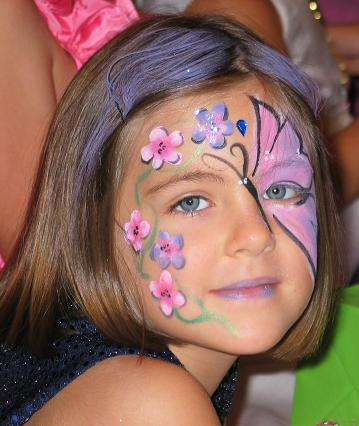 Face Paint Images on Butterfly Face Paint Design  Simple Cheek Art Steps   Face